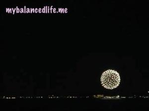 fireworks over Nassau, Bahamas