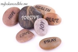 smooth stones pray love joy peace health hope forgive