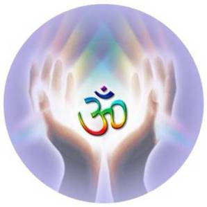reiki hands and om symbol