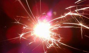 lit sparklers