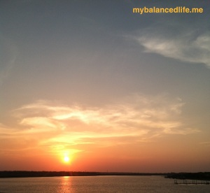 beautiful Southern sunset over the May River