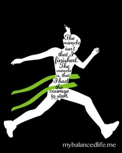 silhouette of running woman