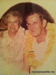 Grandma and Grandpa Banis on their Hawaiian vacation