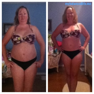 Before and after pictures for HCG diet experiment
